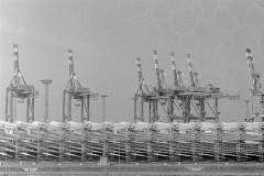 Wind turbines in pieces - Bremerhaven